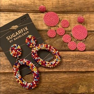 BaubleBar Jewelry - NWT SugarFix by BaubleBar Earring Lot